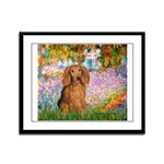 Garden -Dachshund (LH-Sable) Framed Panel Print
