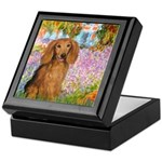 Garden -Dachshund (LH-Sable) Keepsake Box
