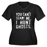 """I Hunt Ghosts"" Women's Plus Size V-Neck Dark T-Sh"