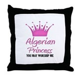 Algerian Princess Throw Pillow