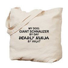 Giant Schnauzer Deadly Ninja Tote Bag