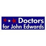 Doctors for John Edwards bumper sticker