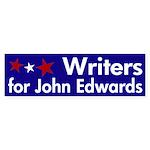 Writers for John Edwards bumpersticker