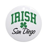 San Diego Irish Ornament (Round)