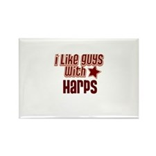I like guys with Harps Rectangle Magnet (10 pack)