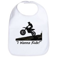 """I Wanna Ride!"" Bib"
