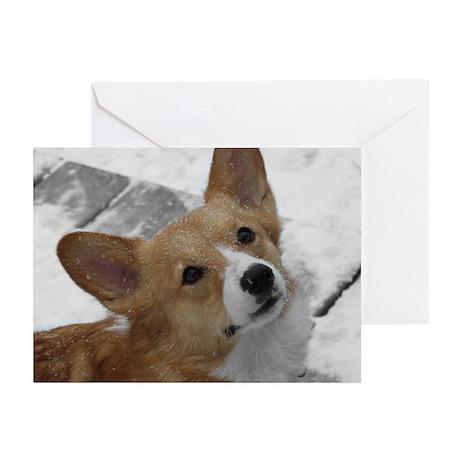 Snow Corgi Greeting Cards (Pk of 20)