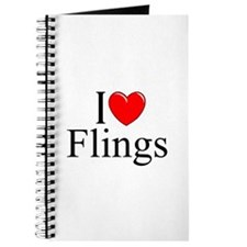 """I Love (Heart) Flings"" Journal"