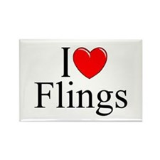 """""""I Love (Heart) Flings"""" Rectangle Magnet"""