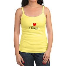 """I Love (Heart) Flings"" Jr.Spaghetti Strap"