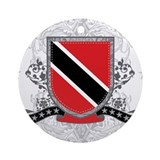 Trinidad and Tobago Shield Ornament (Round)
