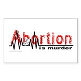 ABORTION IS MURDER Rectangle Decal