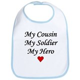 My Cousin Soldier Hero Army Bib