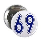 HUGH JOHNSON, NUMBER 69 FANTASY ALLSTARS Button
