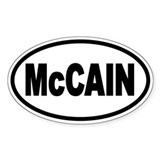 McCain '08 Oval Decal