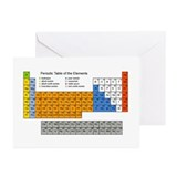 Periodic Table  Greeting Cards (Pk of 20)
