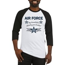 Air Force Grandchild defending Baseball Jersey