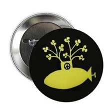 Yellow Submarine for Peace Button