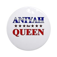 ANIYAH for queen Ornament (Round)