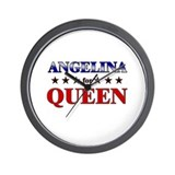 ANGELINA for queen Wall Clock