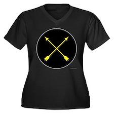 Archery Marshal Women's Plus Size V-Neck Dark T-Sh