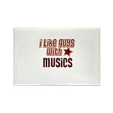 I like guys with Musics Rectangle Magnet