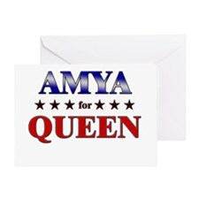 AMYA for queen Greeting Card