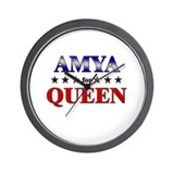 AMYA for queen Wall Clock
