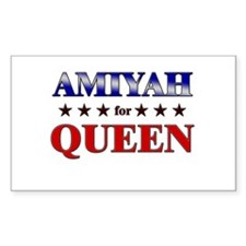 AMIYAH for queen Rectangle Decal
