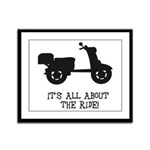 It's All About The Ride Framed Panel Print