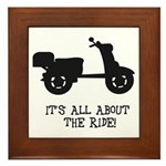 It's All About The Ride Framed Tile