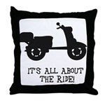 It's All About The Ride Throw Pillow