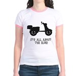 It's All About The Ride Jr. Ringer T-Shirt