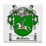 McGuire Family Crest Tile Coaster