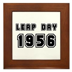 LEAP DAY 1956 Framed Tile