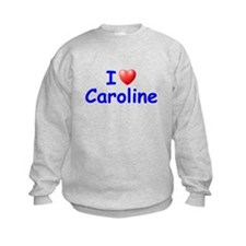 I Love Caroline (Blue) Sweatshirt