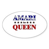 AMARI for queen Oval Bumper Stickers