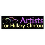 Artists for Hillary Clinton bumper sticker