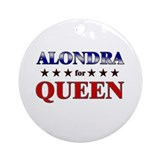 ALONDRA for queen Ornament (Round)