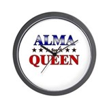 ALMA for queen Wall Clock