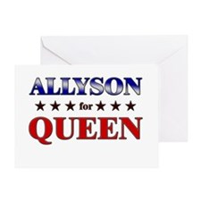 ALLYSON for queen Greeting Card