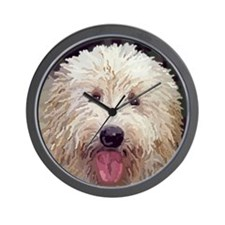 Golden Doodle Close up Wall Clock