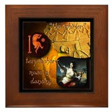 Greek Goddess Terpsichore Framed Tile