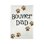 Bouvier Dad Rectangle Magnet (10 pack)