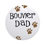 Bouvier Dad Ornament (Round)