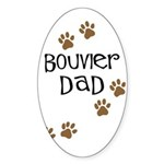 Bouvier Dad Oval Sticker