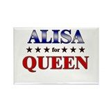 ALISA for queen Rectangle Magnet