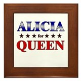 ALICIA for queen Framed Tile