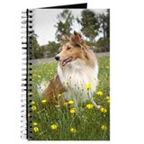 Sheltie and flowers Journals