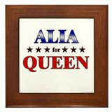 ALIA for queen Framed Tile
